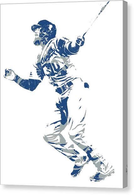Los Angeles Dodgers Canvas Print - Justin Turner Los Angeles Dodgers World Series Homerun by Joe Hamilton