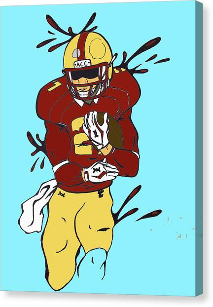 Boston College Canvas Print - Justin Simmons by Win Homer