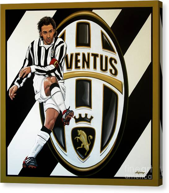 Soccer Teams Canvas Print - Juventus Fc Turin Painting by Paul Meijering