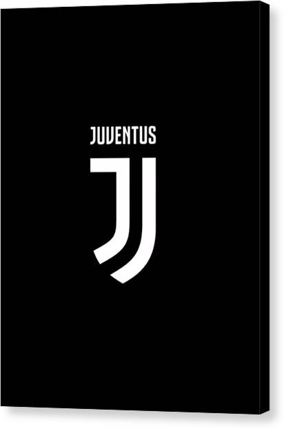 Ac Milan Canvas Print - Juventus New Logo by Ipoy Juki