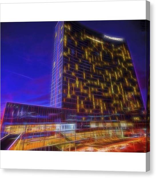 Hotels Canvas Print - @jwmarriottindy @marriotthotels by David Haskett II
