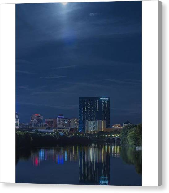 Hotels Canvas Print - #jwmatriottindy #jwmarriott #jwindy by David Haskett II