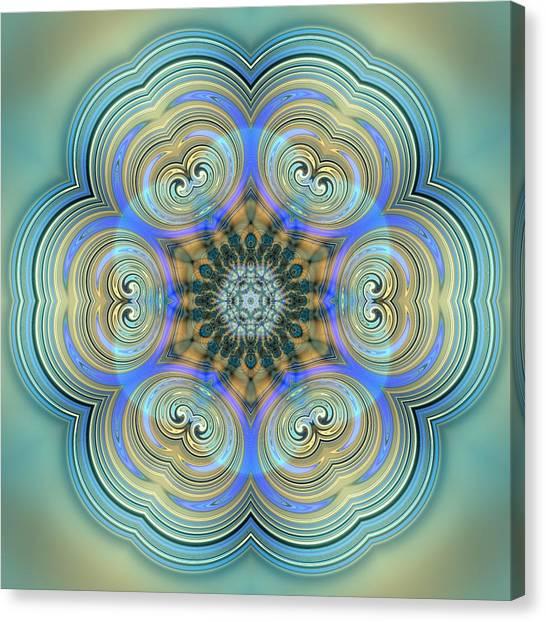 Canvas Print featuring the digital art Jyoti Ahau 140 by Robert Thalmeier