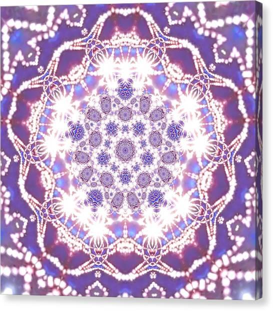 Canvas Print featuring the digital art Jyoti Ahau 23 by Robert Thalmeier