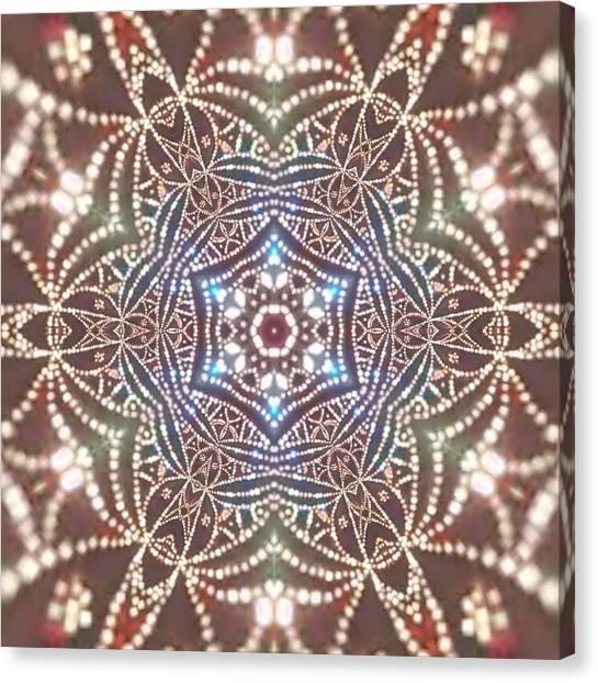 Canvas Print featuring the digital art Jyoti Ahau 6 by Robert Thalmeier