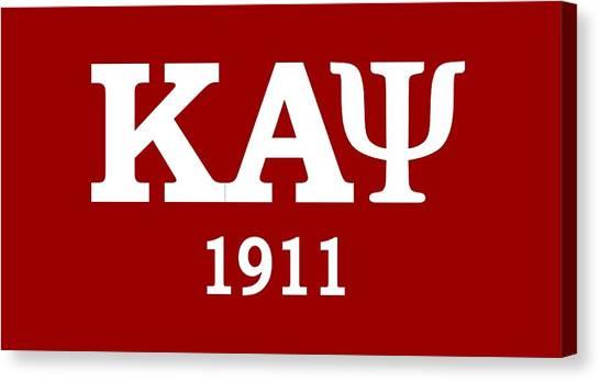 Kappa Alpha Psi Canvas Print - Kappa Alpha Psi 1911 by Sincere Taylor