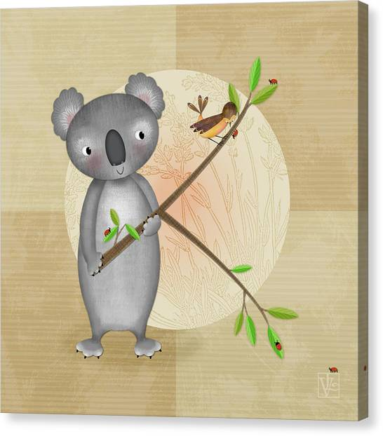 K Is For Koala Canvas Print