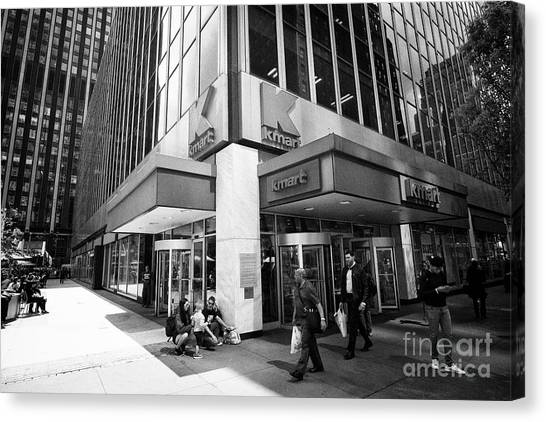 Kmart canvas print k mart store midtown new york city usa by joe fox