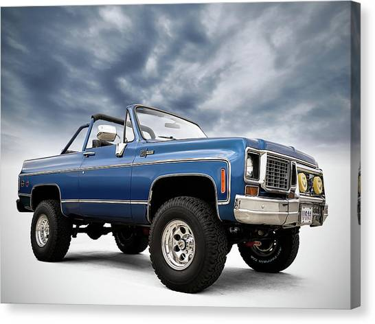 Chevy Truck Canvas Print - K5 Blazer by Douglas Pittman