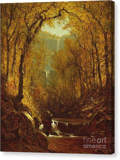 1823 Canvas Print - Kaaterskill Falls by Sanford Robinson Gifford