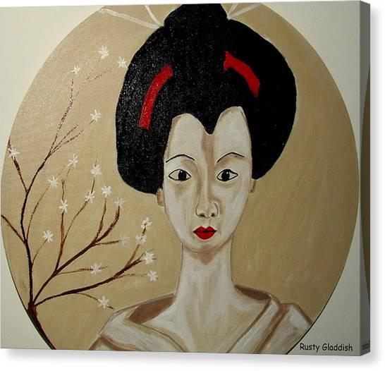 Kabuki Girl Canvas Print