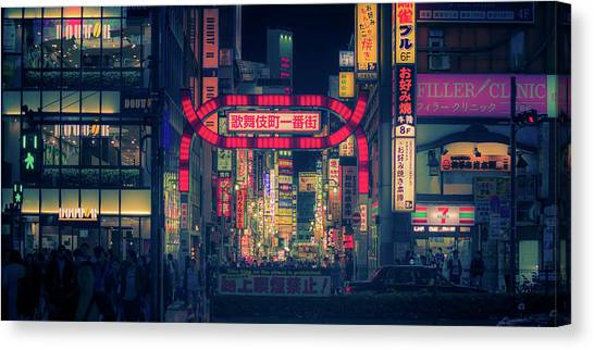 Bladerunner Canvas Print - Kabukicho Gate by Guillaume Marcotte