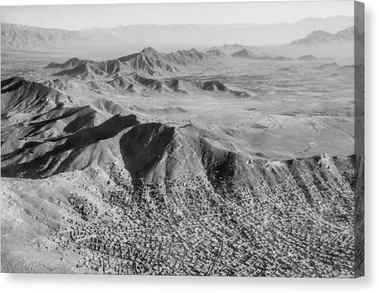 Kabul Mountainous Urban Sprawl Canvas Print