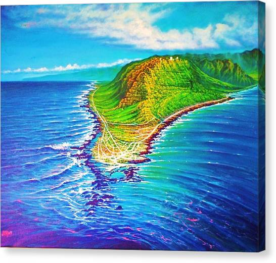 Kaena Point Refractions Canvas Print