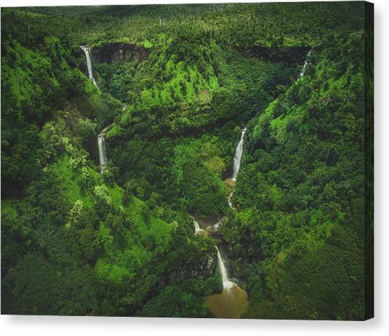 Kahili Falls Aerial Canvas Print