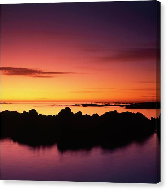 Sunrise Horizon Canvas Print - Kaikoura Sunrise, New Zealand. by Maggie McCall