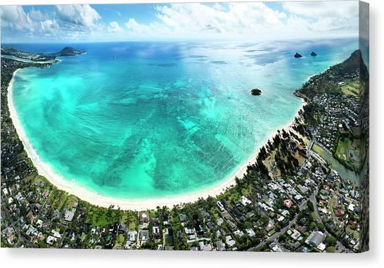 Kailua - Lanikai Overview Canvas Print