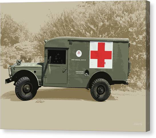 Army Canvas Print - Kaiser Jeep M725 Army by Greg Joens