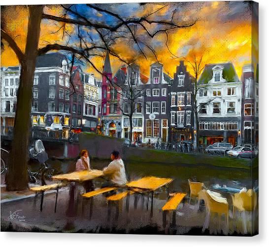 Kaizersgracht 451. Amsterdam Canvas Print