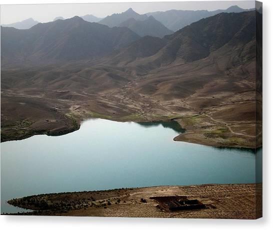 Kajaki Lake In Helmand Province Afghanistan Canvas Print