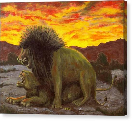 Kalahari Sunset Canvas Print