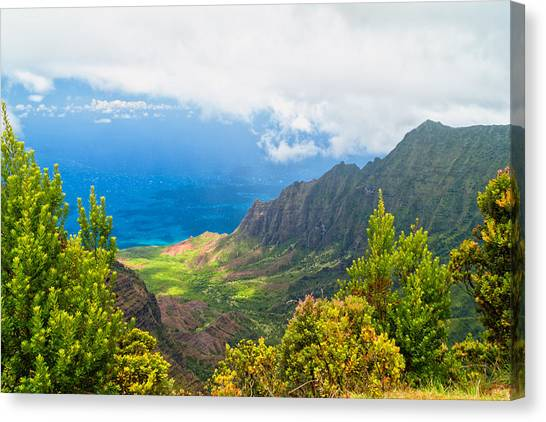 Jurassic Park Canvas Print - Kalalau Valley 2 by Brian Harig