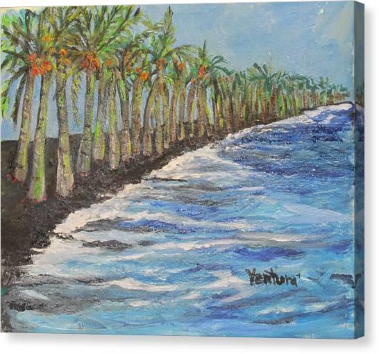 Kalapana Beach Canvas Print
