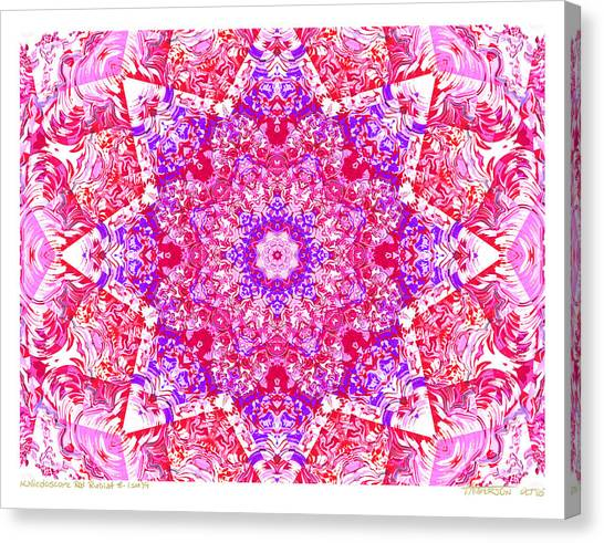 Kaleido Red Rubi 8 Canvas Print by Terry Anderson