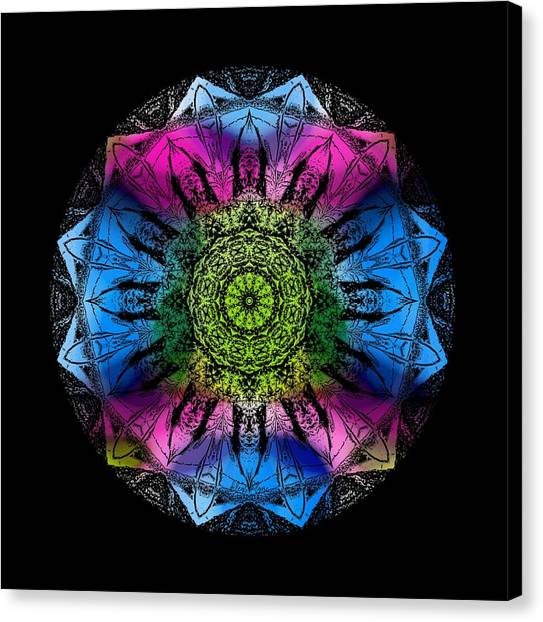 Canvas Print featuring the digital art Kaleidoscope - Colorful by Deleas Kilgore