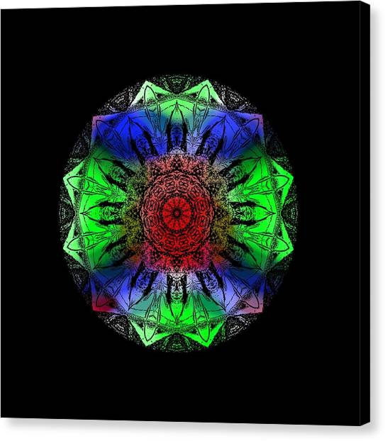Canvas Print featuring the digital art Kaleidoscope by Deleas Kilgore