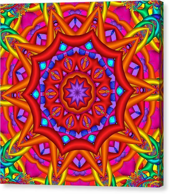 Kaleidoscope Flower 02 Canvas Print