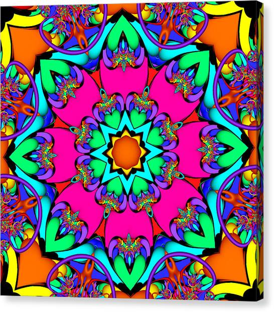Kaleidoscope Flower 03 Canvas Print