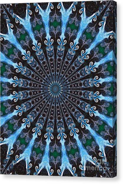 Kaleidoscope Water Swirl Canvas Print