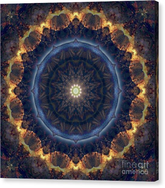 Repeat Canvas Print - Kaleidoscope Zero Fifty Nine by Paul Gillard