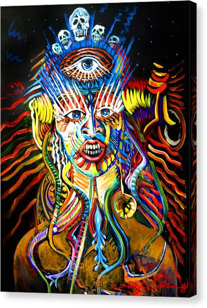 Canvas Print featuring the painting Kali by Amzie Adams