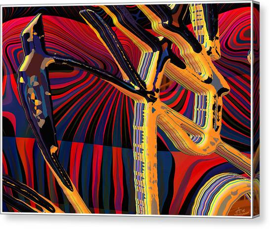 Kali-fa-callig10x11m8 Canvas Print by Terry Anderson