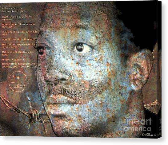 Kalief Browder - A Young Martyr Canvas Print