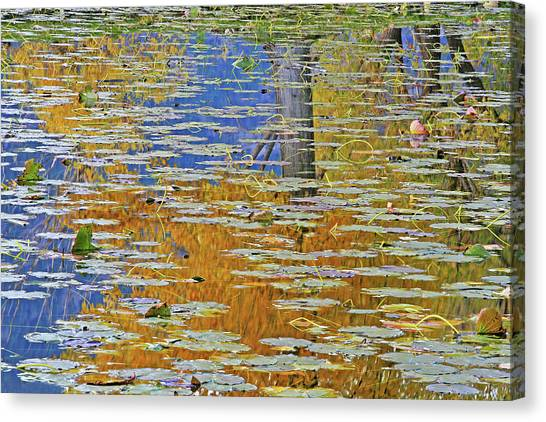 Oyama Canvas Print - Kaloya Pond Autumn by Darrel Giesbrecht