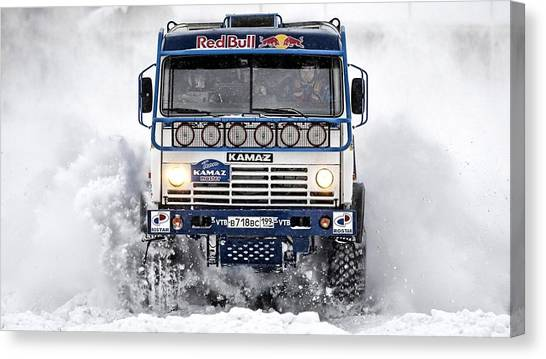 Car Canvas Print - Kamaz by Gloriane Straub