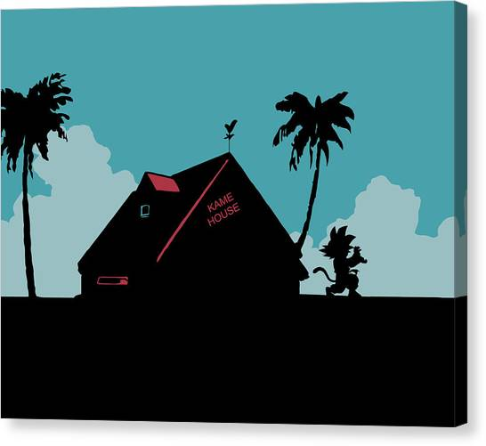 Playstation Canvas Print - Kame House by Danilo Caro
