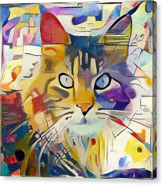 Indoors Canvas Print - Kandinsky Cat by Yury Malkov