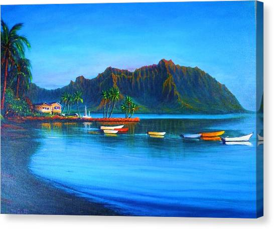 Kaneohe Bay - Early Morning Glass Canvas Print