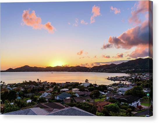 Kaneohe Bay Sunrise 1 Canvas Print