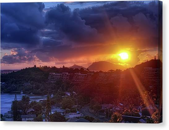 Kaneohe Sunrise Canvas Print
