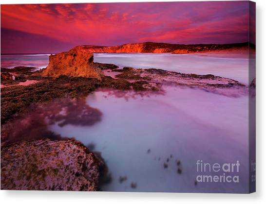 Pennington Bay Canvas Print - Kangaroo Island Dawn by Mike Dawson