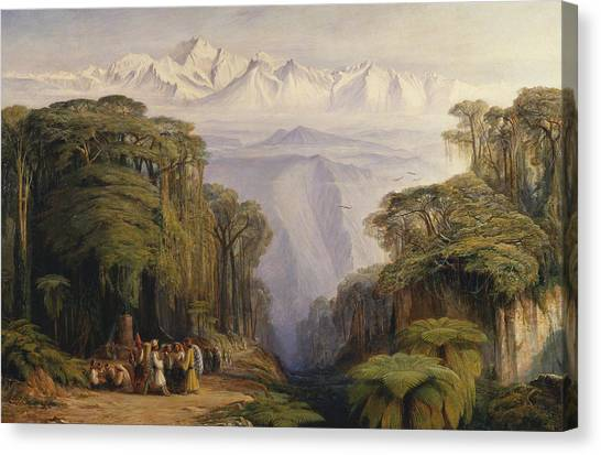 Kangchenjunga Canvas Print - Kangchenjunga From Darjeeling by Edward Lear