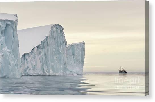Glacier Bay Canvas Print - Kangerlua by Janet Burdon