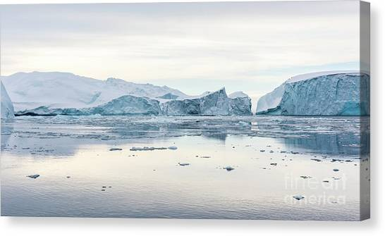 Glacier Bay Canvas Print - Kangia Icefjord by Janet Burdon