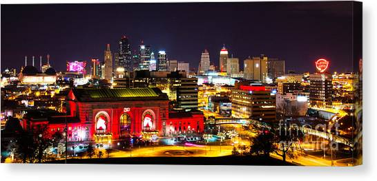 Kansas City Celebrates The Chiefs Canvas Print