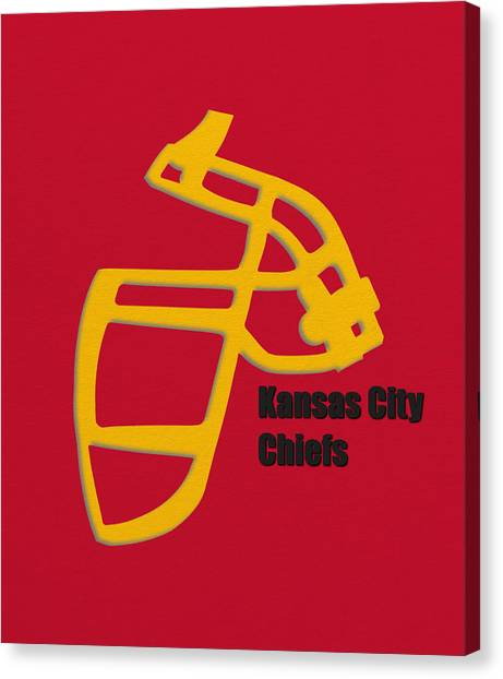 Kansas City Chiefs Canvas Print - Kansas City Chiefs Retro by Joe Hamilton